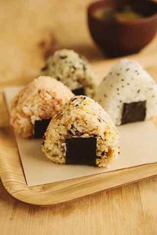 寿司日系饭团五谷杂粮手机壁纸