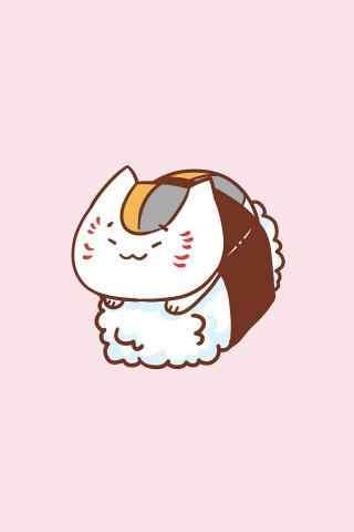 寿司卡通猫老师寿司可爱手机壁纸