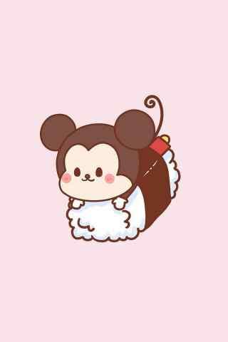 寿司卡通米老鼠寿司手机壁纸