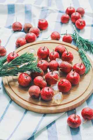 秋季养生水果之甜美的山楂手机壁纸