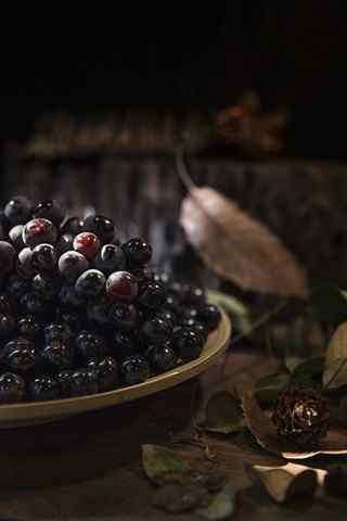 文艺的水果之葡萄手机壁纸