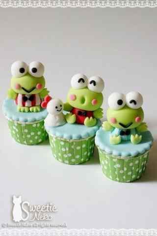 翻糖蛋糕可爱青蛙蛋糕手机壁纸