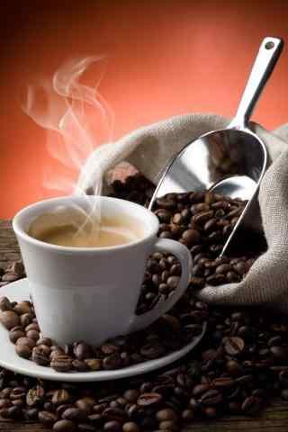 咖啡豆和咖啡的故