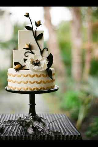 翻糖蛋糕简约花苞手机壁纸
