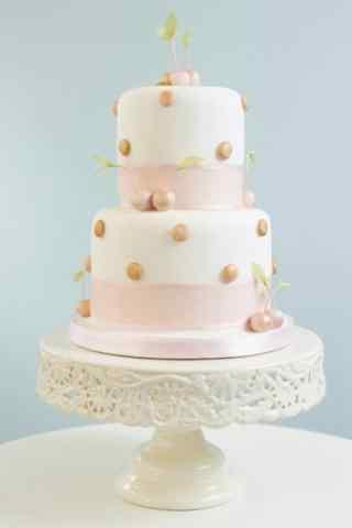 翻糖蛋糕创意简约粉色手机壁纸