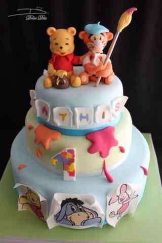 翻糖蛋糕创意维尼熊系列蛋糕手机壁纸