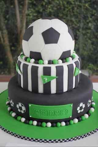 翻糖蛋糕创意足球手机壁纸