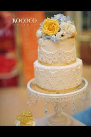 翻糖蛋糕创意纯白