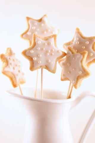 饼干可爱星星饼干手机壁纸