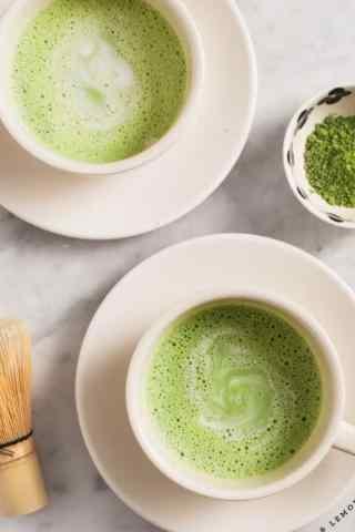 抹茶小清新日式抹茶饮料手机壁纸