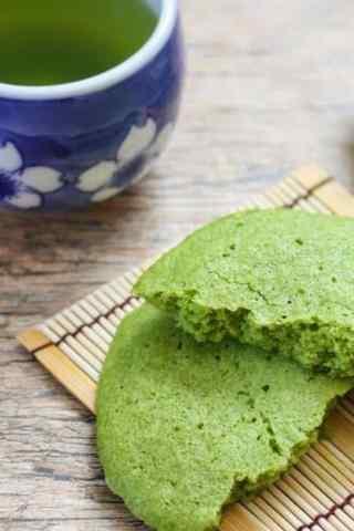 抹茶甜品清新下午茶抹茶饼手机壁纸