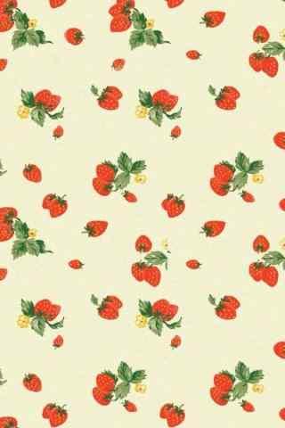 小清新文艺草莓手机壁纸