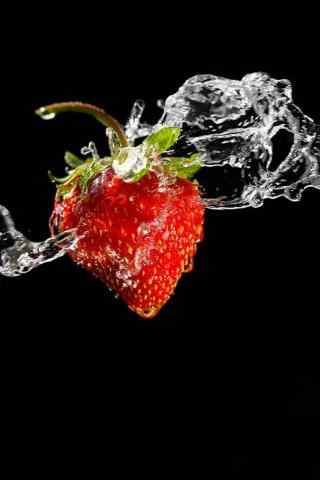 动感草莓手机壁纸
