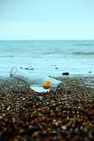 海边小清新漂流瓶