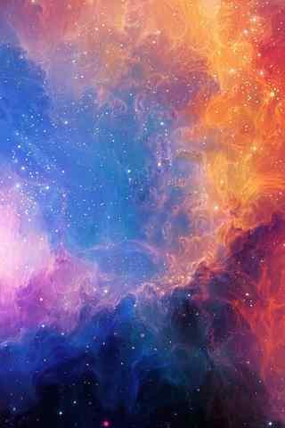 彩色唯美星空手机