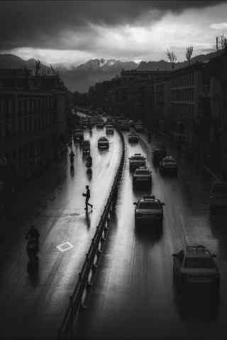 拉萨夜景街道手机壁纸