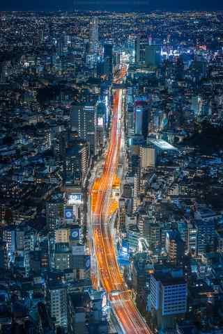 日本东京街道夜景手机壁纸