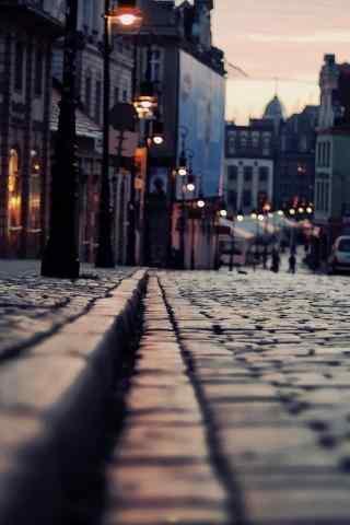 欧式风格城市街道手机壁纸