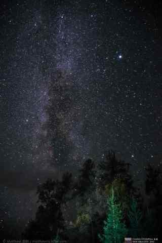 喀纳斯湖和漫天星