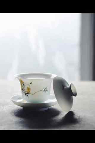 茶文化—一杯醇香茶水手机壁纸