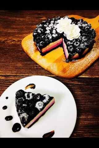 满满的蓝莓蛋糕手机壁纸