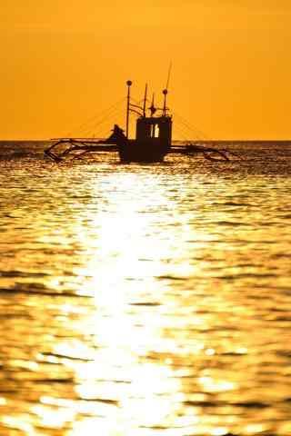 长滩岛的海上风景手机壁纸