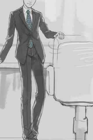 人民的名义李达康手绘手机壁纸