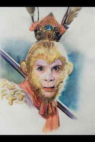 经典86版西游记美猴王造型手机壁纸