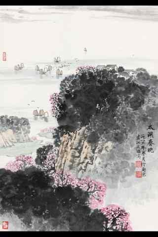 美丽的水墨画烟雨江南手机壁纸