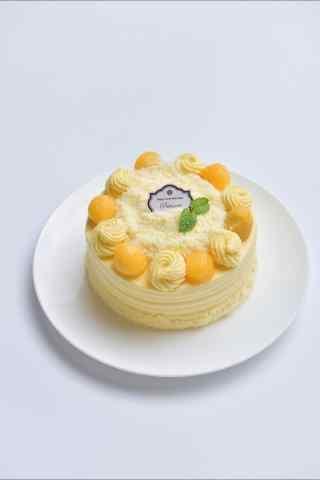 精致甜点芒果蛋糕手机壁纸