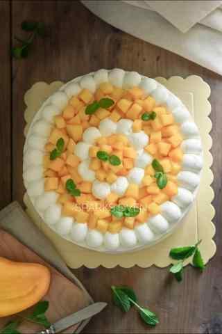 可口芒果千层蛋糕