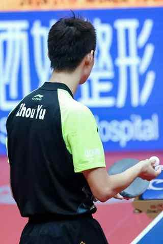 中国国家男子乒乓球队周雨帅气背景手机壁纸