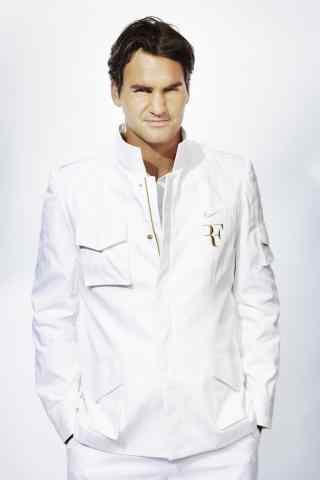 瑞士天王费德勒帅气优雅白色战袍手机壁纸第二辑5张