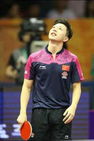 中国男乒队马龙手