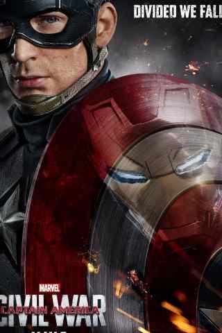 美国队长电影海报手机壁纸