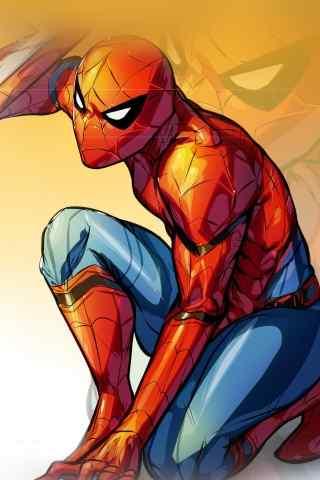 蜘蛛侠手绘高清手机壁纸