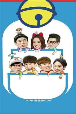 韩国综艺RunningMan之哆啦A梦背景手机壁纸