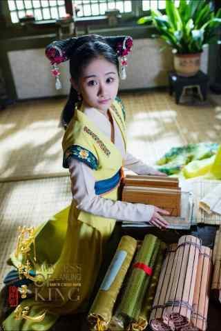兰陵王妃剧照尹淇饰演的小丫鬟手机壁纸