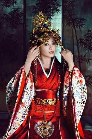 兰陵王妃元清锁大红嫁衣装扮手机壁纸