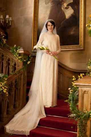 唐顿庄园玛丽唯美婚纱照手机壁纸