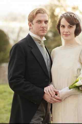 唐顿庄园大姐和大表哥结婚照手机壁纸