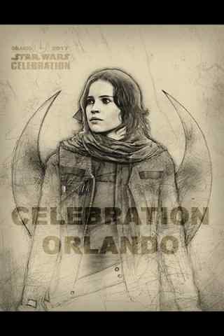 《星球大战外传:侠盗一号》女性角色手绘图片