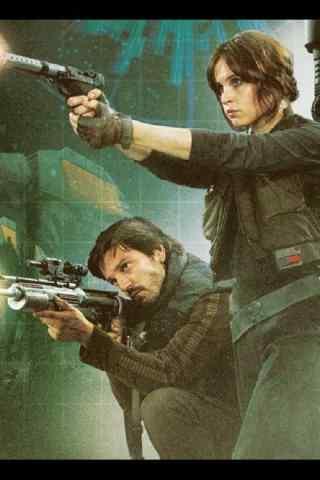 《星球大战外传:侠盗一号》手绘手机壁纸