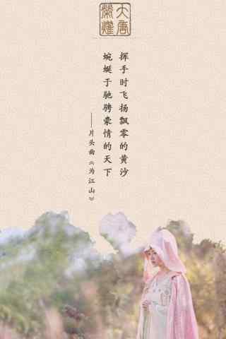 电视剧大唐荣耀文艺手机壁纸