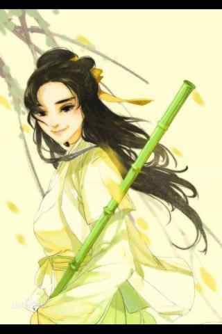射雕英雄传朱茵版黄蓉手绘壁纸