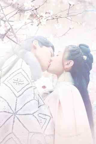 双世宠妃坦诚夫妇甜蜜拥吻手机壁纸