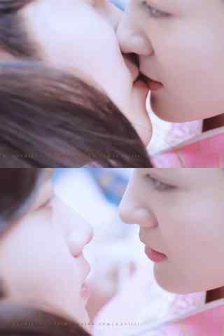 双世宠妃墨连城甜蜜亲吻手机壁纸