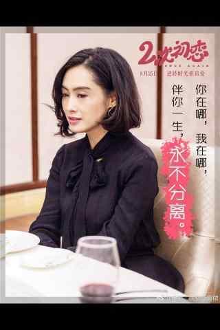 电影二次初恋朱茵手机海报