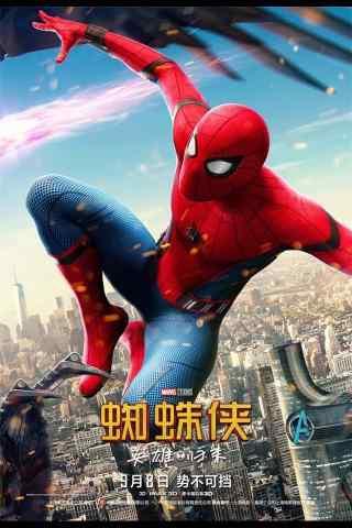 电影蜘蛛侠英雄归来酷炫手机壁纸