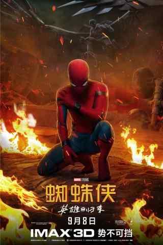 电影蜘蛛侠英雄归来酷炫手机海报